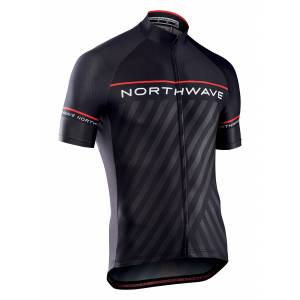 LOGO3 JRS S/S NORTHWAVE Rozmiar: L, M, XL Kolor: BLACK/RED, BLUE/YELLOWFLUO, RED/BLACK